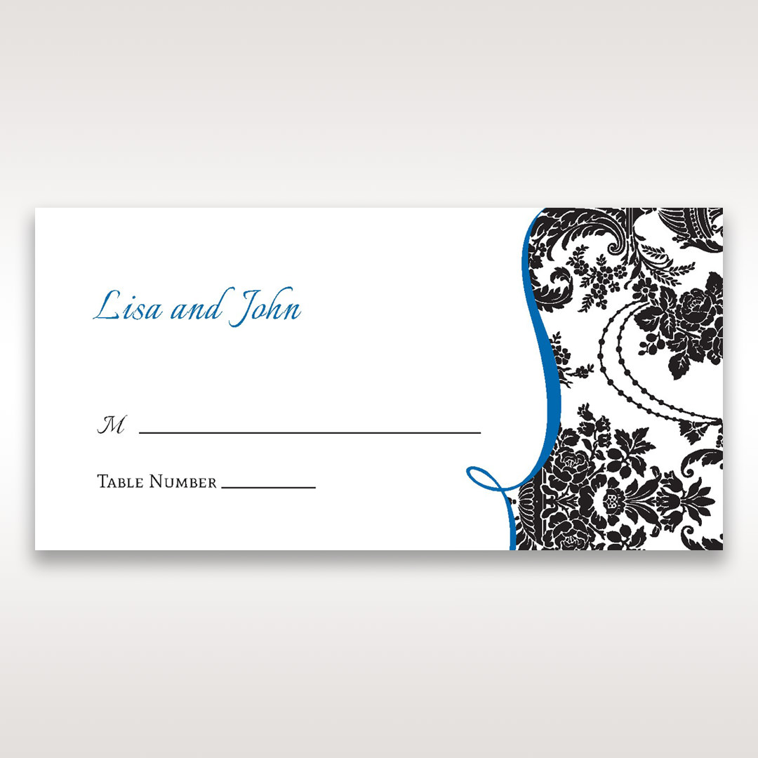 Black Black Grandeur - Place Cards - Wedding Stationery - 62