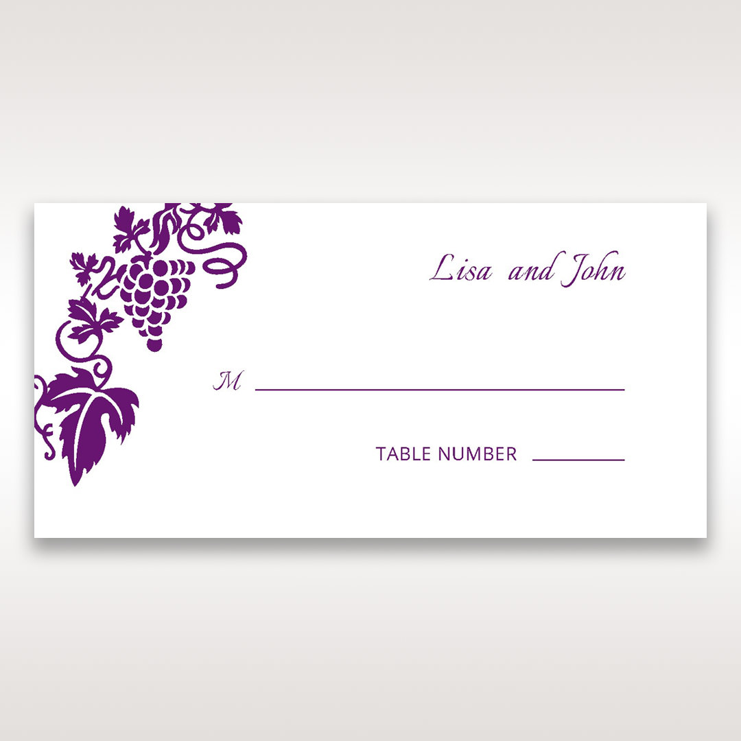 Purple Royal Purple Winery - Place Cards - Wedding Stationery - 18