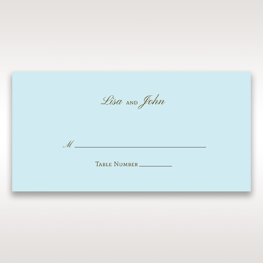 Blue Something Old and Blue - Place Cards - Wedding Stationery - 70