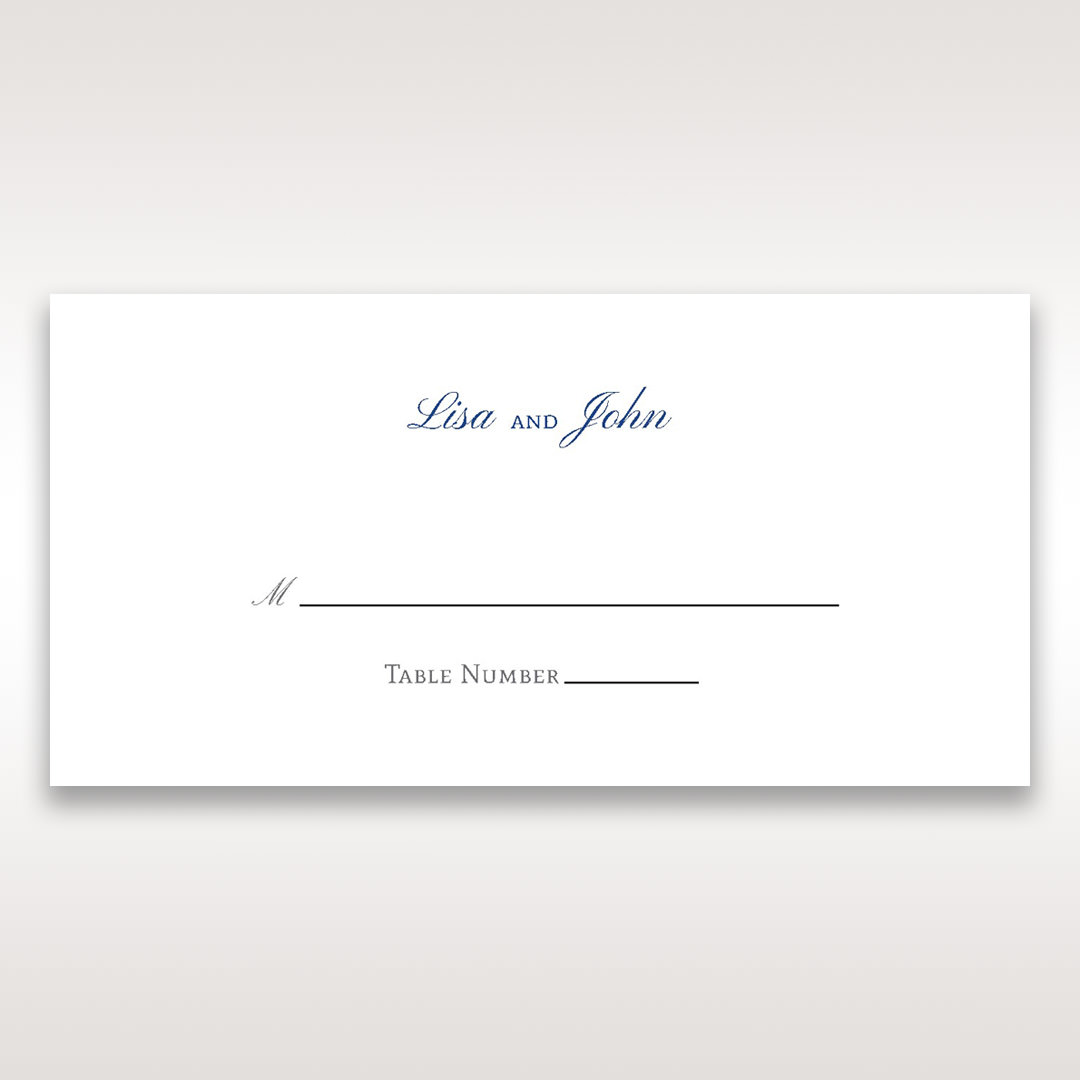 White Something Old and Blue - Place Cards - Wedding Stationery - 35