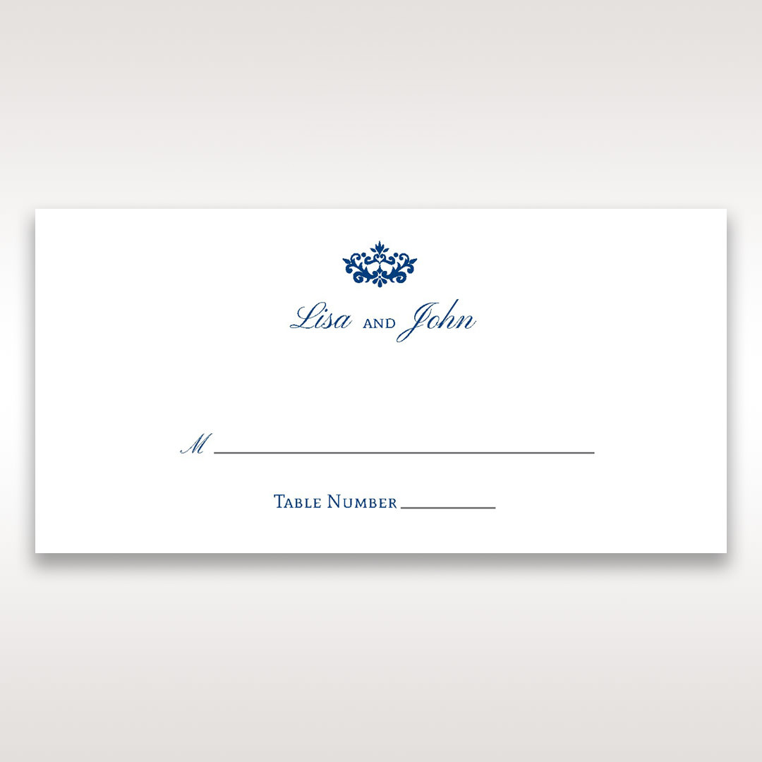 Blue Jeweled Borders - Place Cards - Wedding Stationery - 21