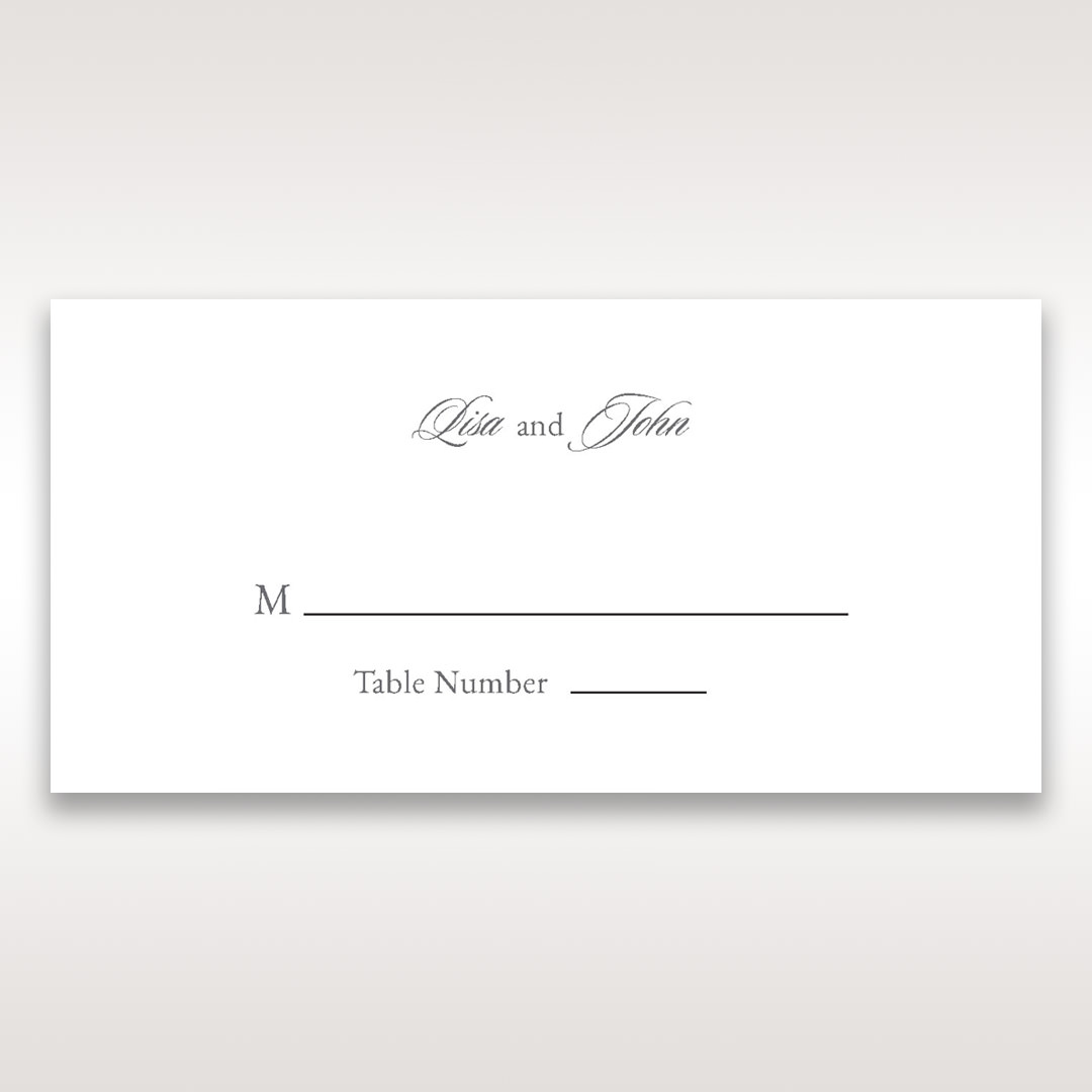 Black Majestic Black, White and Red - Place Cards - Wedding Stationery - 8