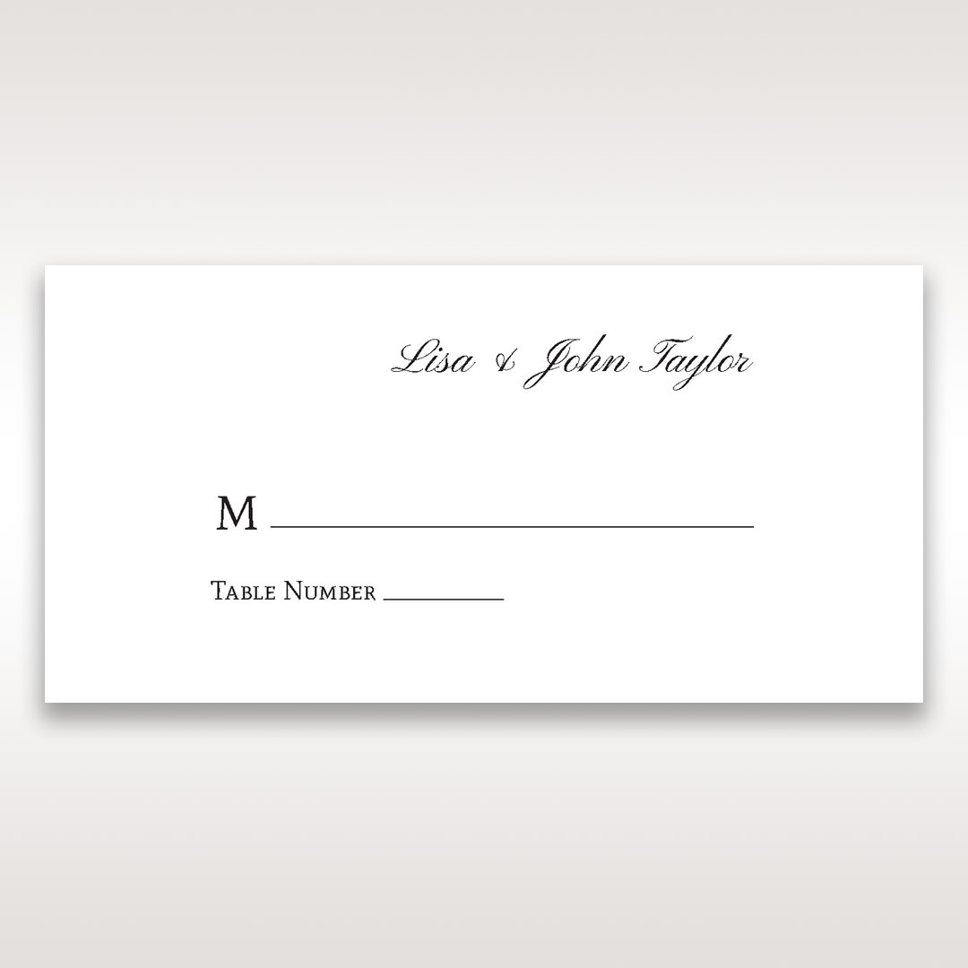 Silver/Gray Galaxy Gold - Place Cards - Wedding Stationery - 92