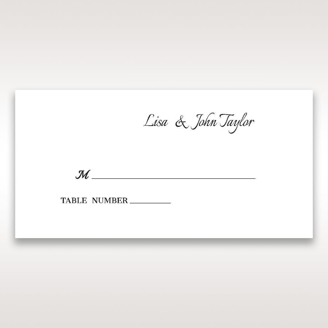Black Laser Contempo Laser Cut Pocket - Place Cards - Wedding Stationery - 95