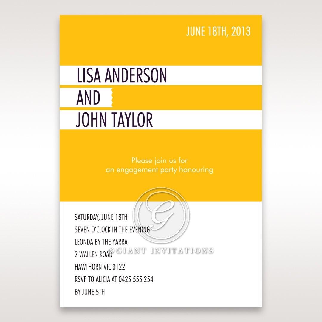 Yellow/Gold Tagnetteli - Engagement Invitations - 24