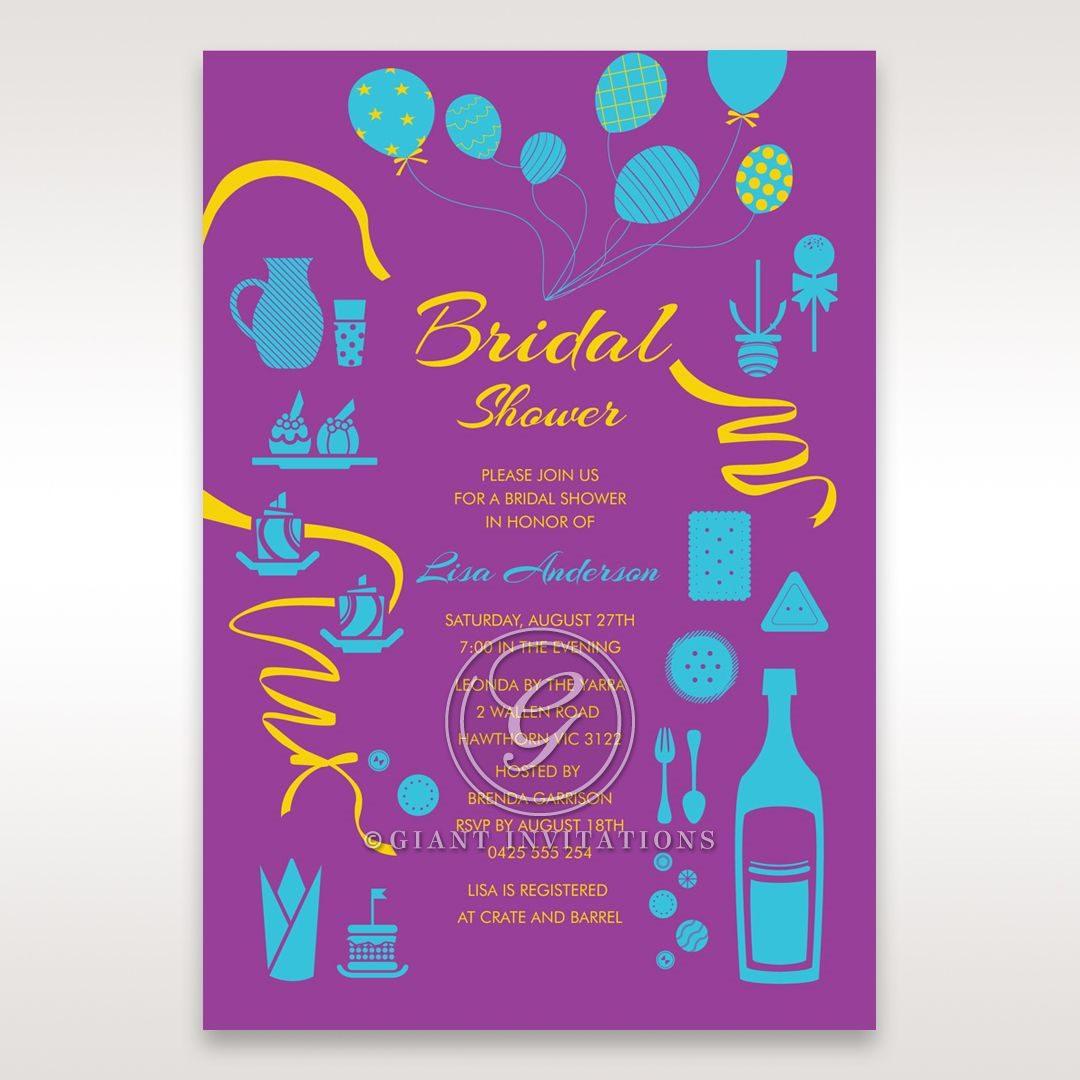 Purple Open the Bubbly - Bridal Shower Invitations - 98