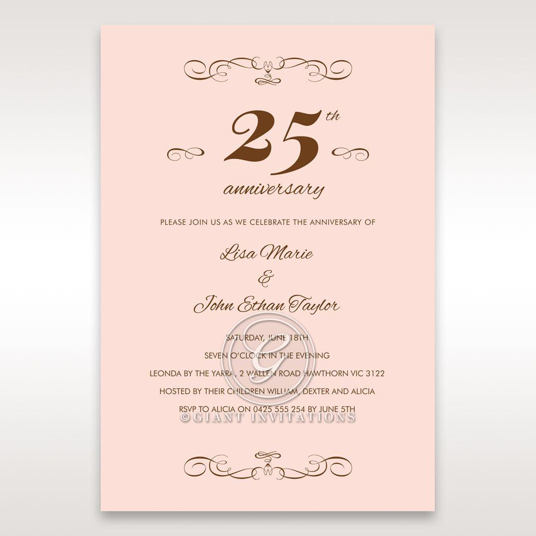 Pink 25 Years - Anniversary Cards - 1