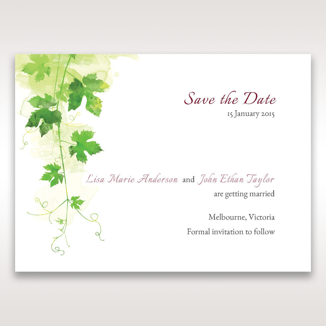 Green Natural Ivy - Save the Date - Wedding Stationery - 20