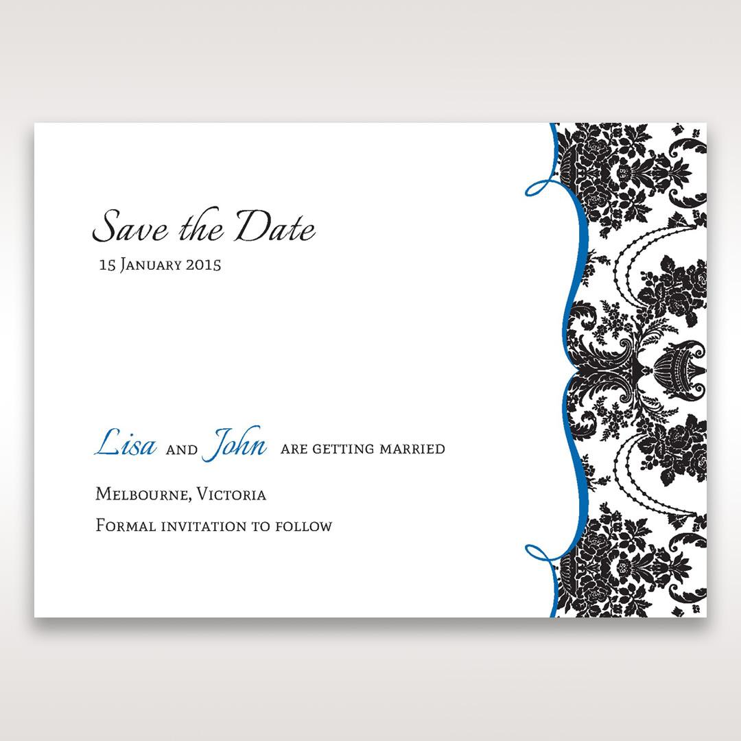 Black Black Grandeur - Save the Date - Wedding Stationery - 49