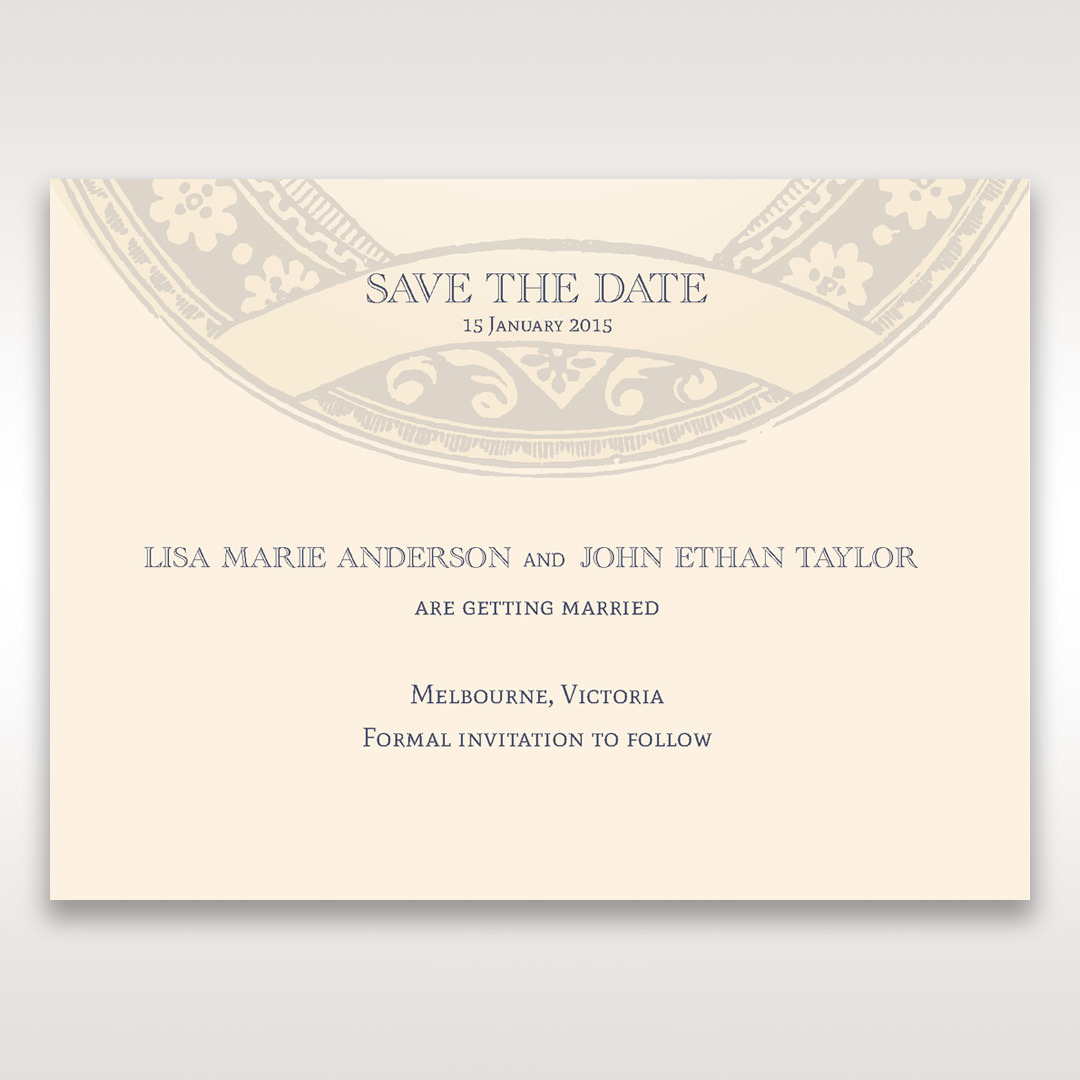 Yellow/Gold Around the Globe with Love - Save the Date - Wedding Stationery - 87