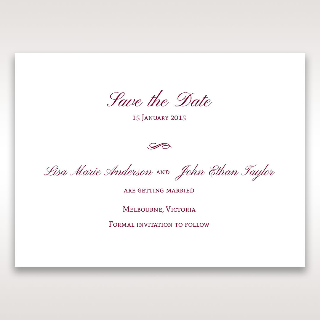 Pink Embossed Romantic Couture, Pink - Save the Date - Wedding Stationery - 24