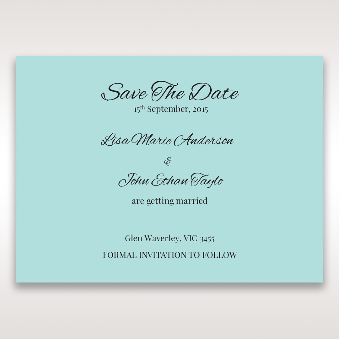 Blue Laser Wild Roses Laser Cut Wrap - Save the Date - Wedding Stationery - 41