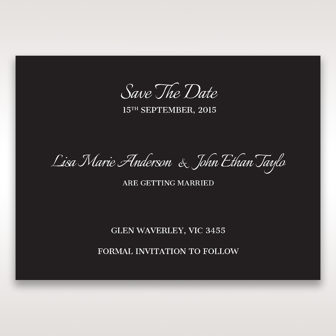 Black Laser Contempo Laser Cut Pocket - Save the Date - Wedding Stationery - 87