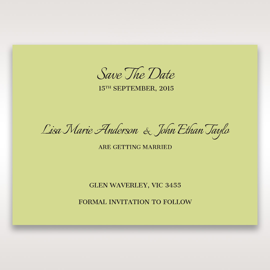 Green Laser Contempo Laser Cut Pocket - Save the Date - Wedding Stationery - 85
