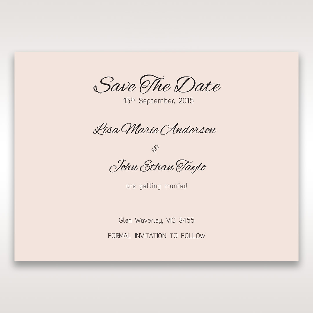 White Laser Inseparable Wrap - Save the Date - Wedding Stationery - 45