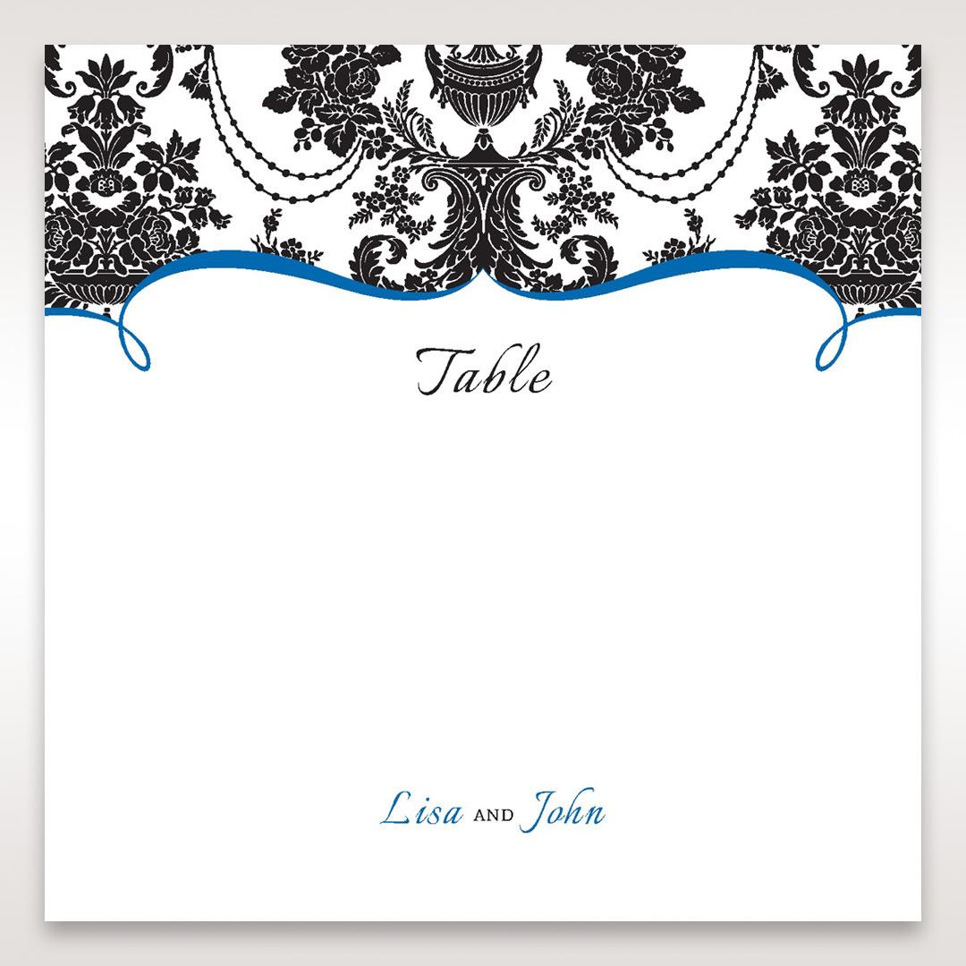 Black Black Grandeur - Table Number Cards - Wedding Stationery - 11