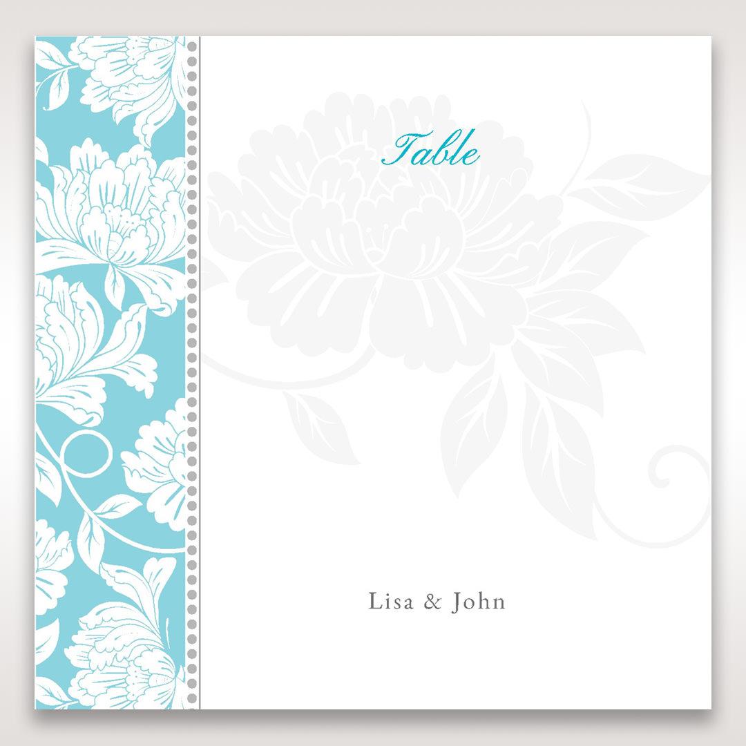 Blue Vintage Floral in Blue - Table Number Cards - Wedding Stationery - 50