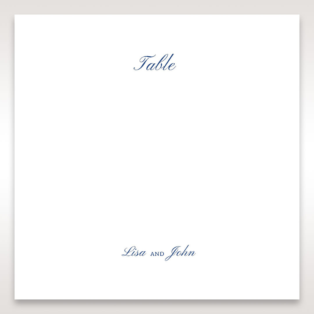 White Something Old and Blue - Table Number Cards - Wedding Stationery - 72