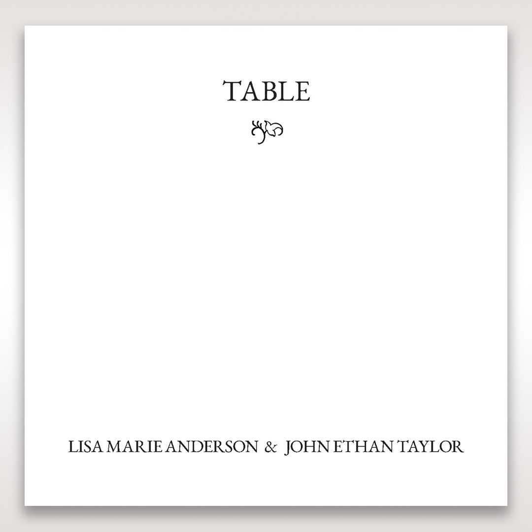 White Romantic Laser Cut - Table Number Cards - Wedding Stationery - 23