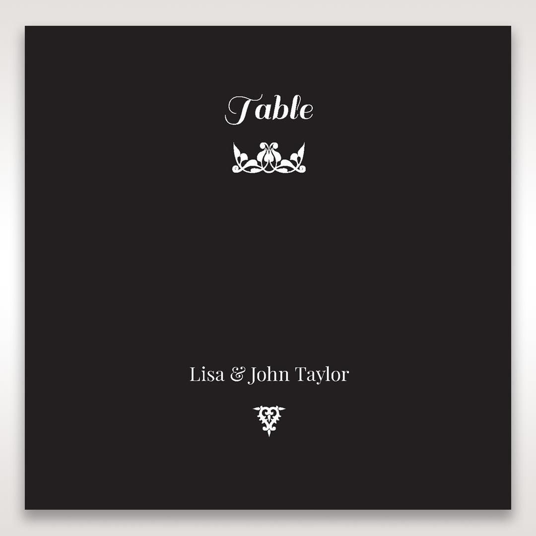 Black Vintage Rose Layered Laser Cut - Table Number Cards - Wedding Stationery - 40