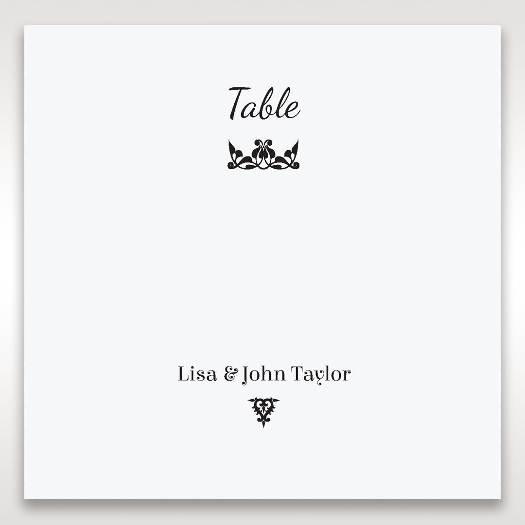 White Laser Gated Elegance Laser Cut Pocket - Table Number Cards - Wedding Stationery - 88