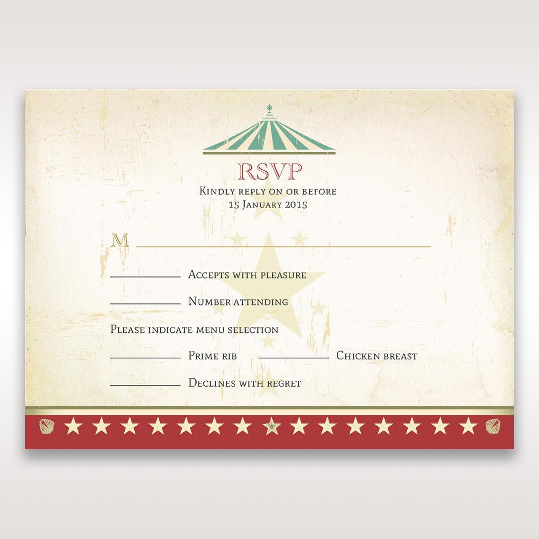 Red Big Top Celebration - RSVP Cards - Wedding Stationery - 58