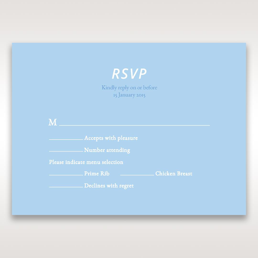 Blue Side by Side - RSVP Cards - Wedding Stationery - 97