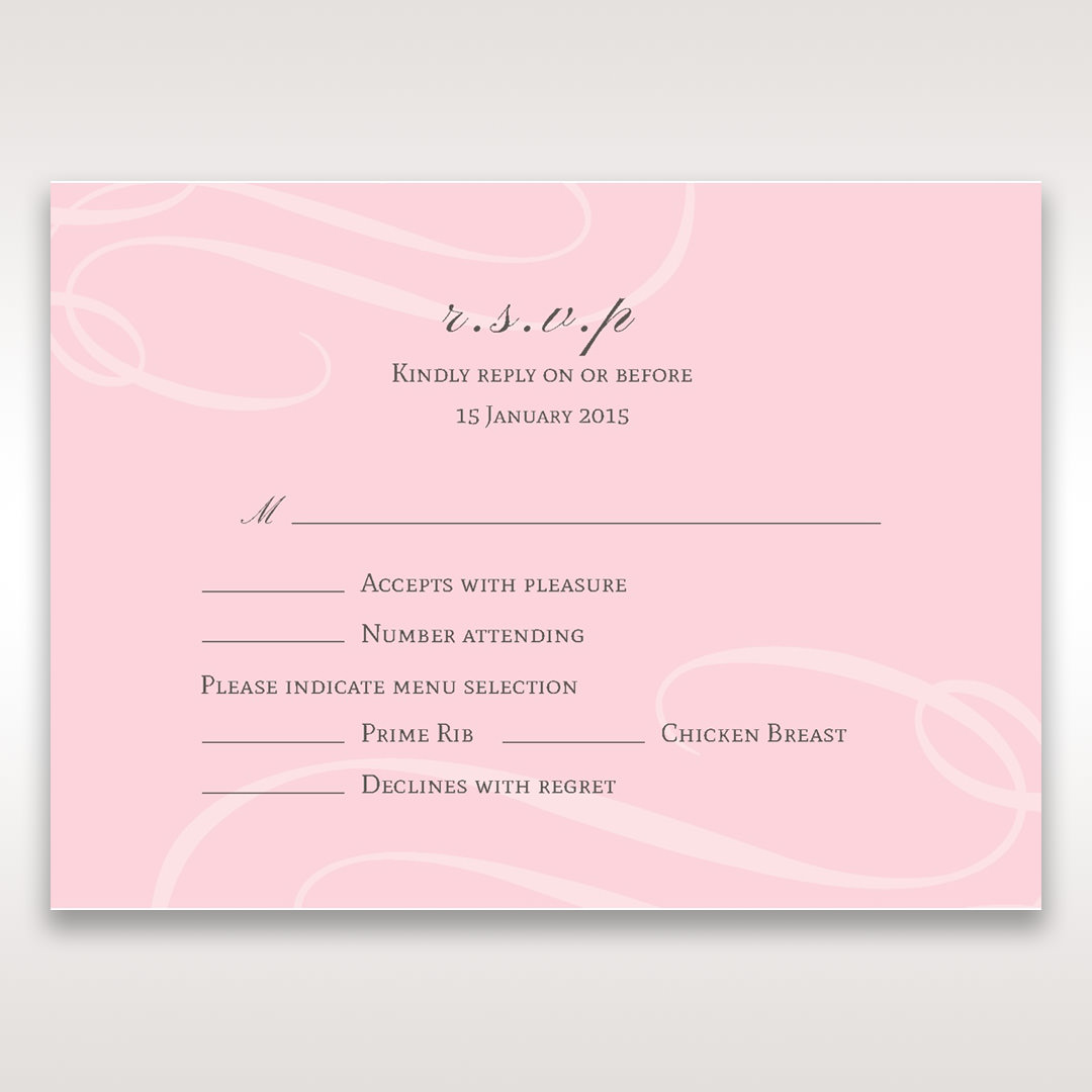 Pink Simply Graceful - RSVP Cards - Wedding Stationery - 28