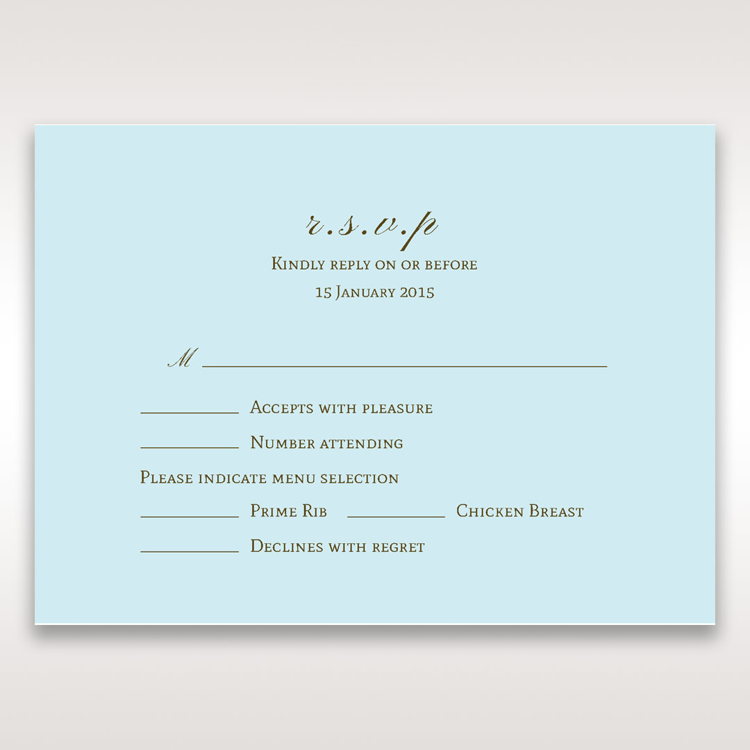 Blue Something Old and Blue - RSVP Cards - Wedding Stationery - 59