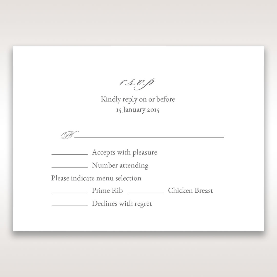 Black Majestic Black, White and Red - RSVP Cards - Wedding Stationery - 9
