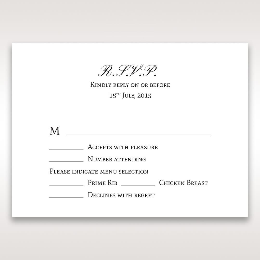 Silver/Gray Kinne Ivory - RSVP Cards - Wedding Stationery - 71