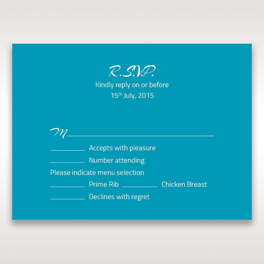Blue Mystic Forest Band Laser Cut - RSVP Cards - Wedding Stationery - 7