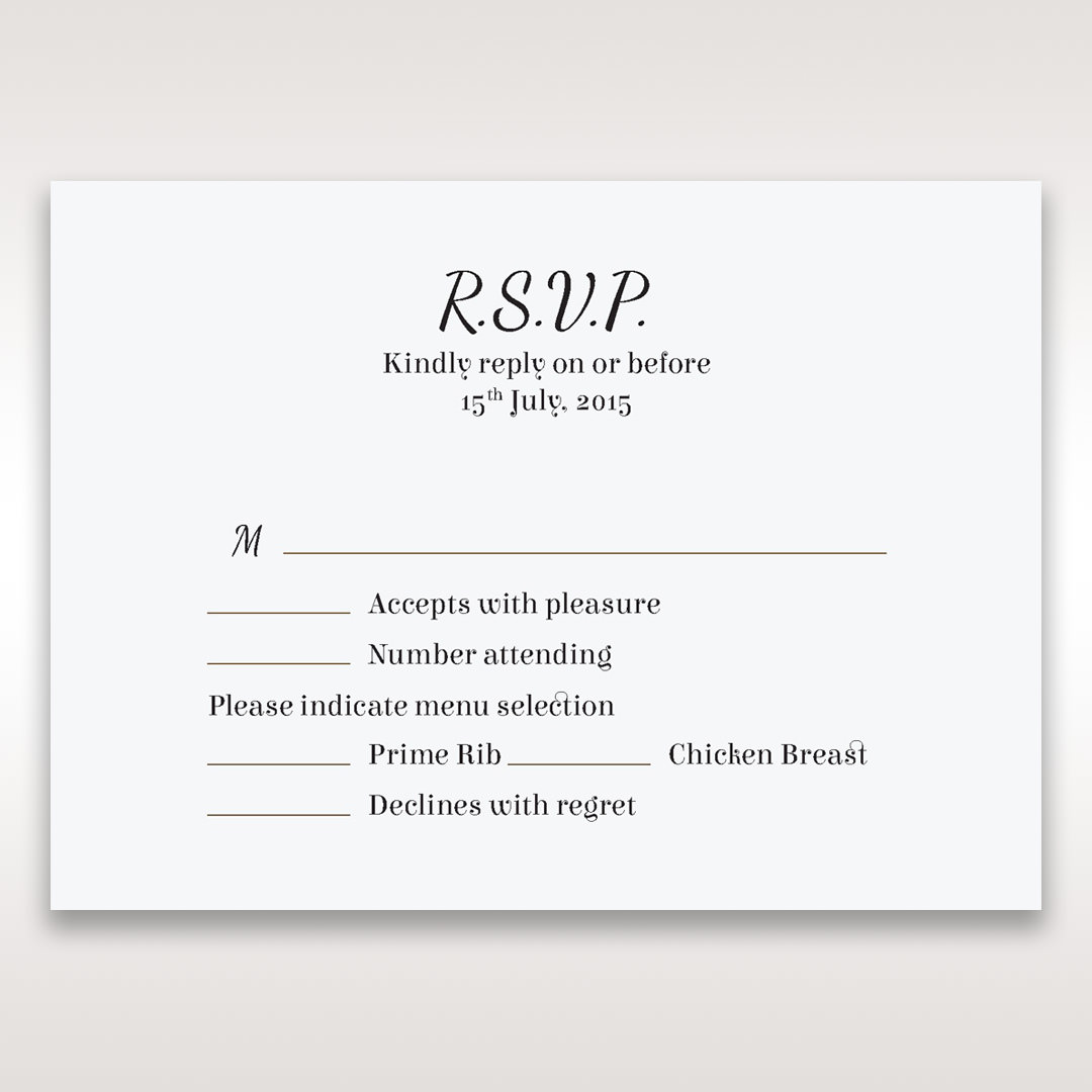 Wedding invitations rsvp cards what does the m mean for What dies rsvp mean