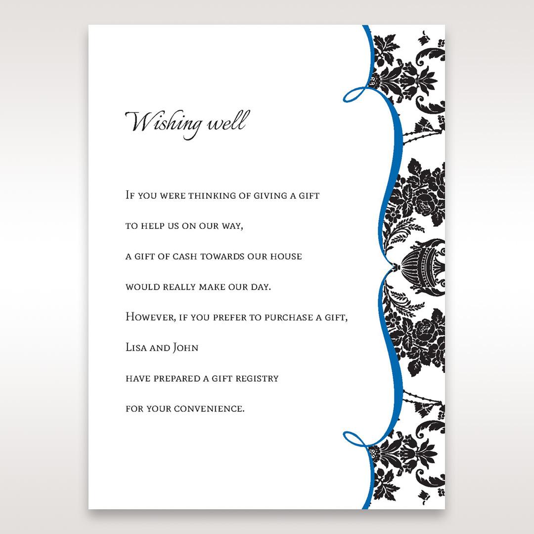 Black Black Grandeur - Wishing Well / Gift Registry - Wedding Stationery - 3