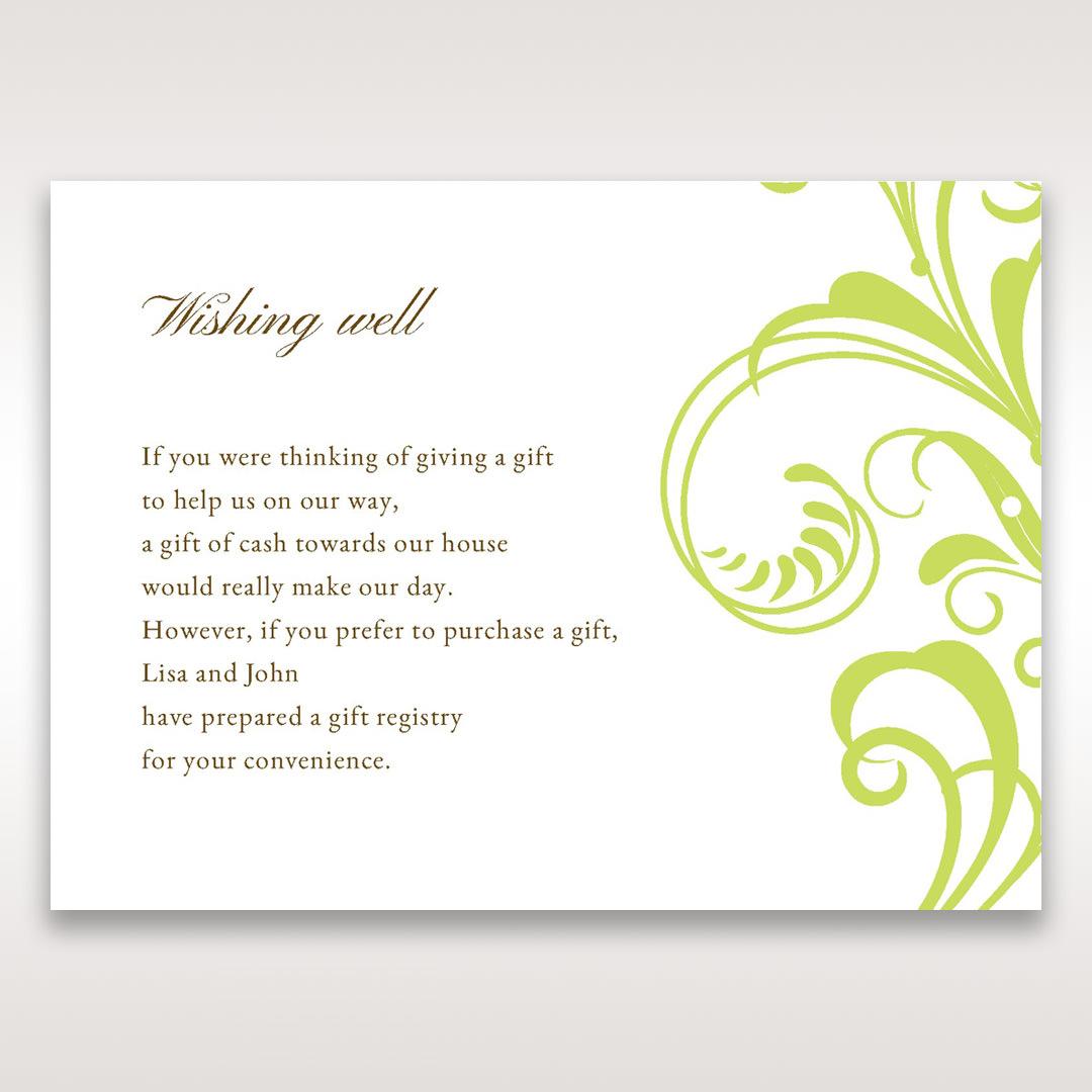 Green Sophisticataed Vintage Swirls - Wishing Well / Gift Registry - Wedding Stationery - 1