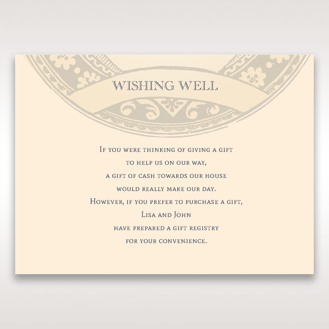Yellow/Gold Around the Globe with Love - Wishing Well / Gift Registry - Wedding Stationery - 22