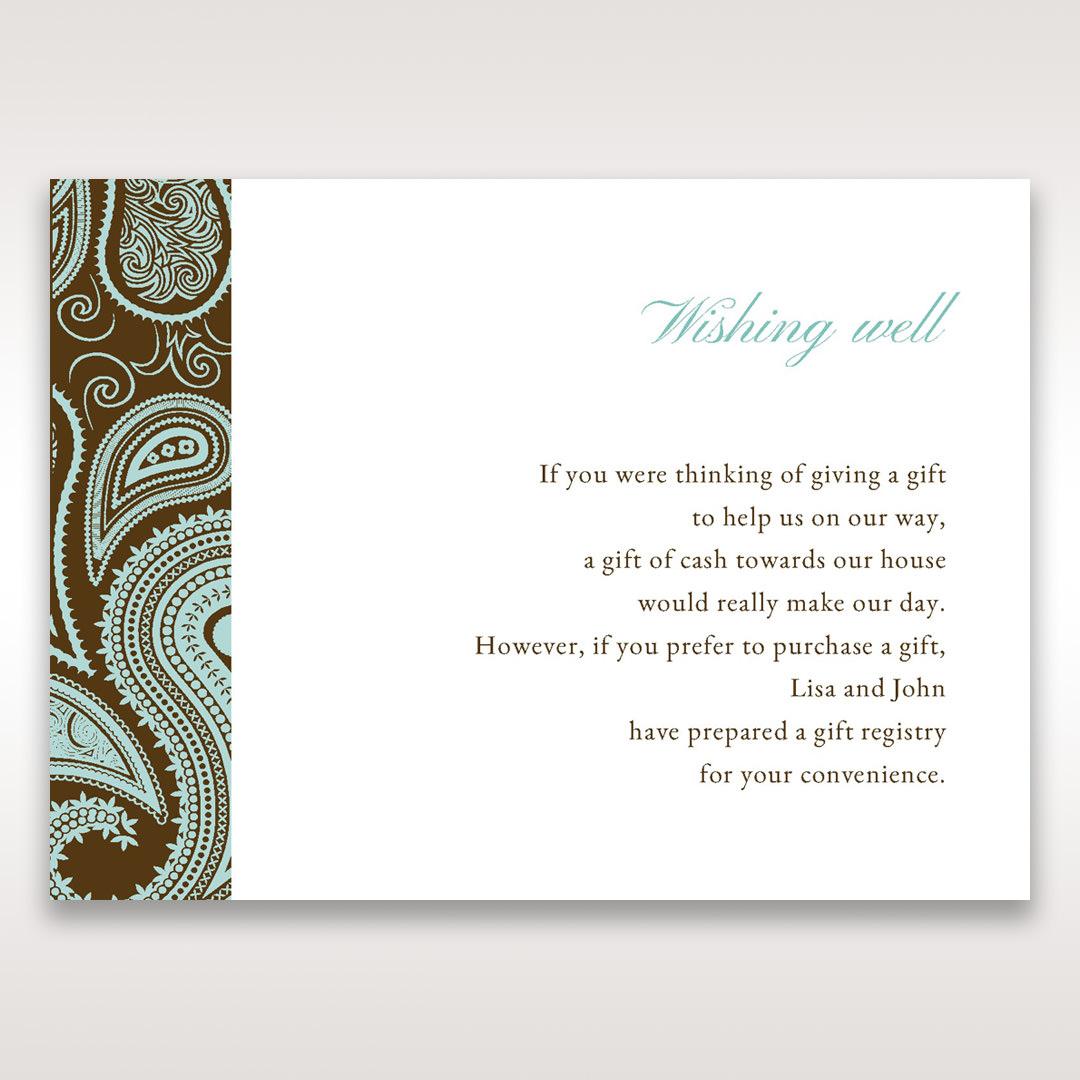 Blue Vintage Swirls - Wishing Well / Gift Registry - Wedding Stationery - 64