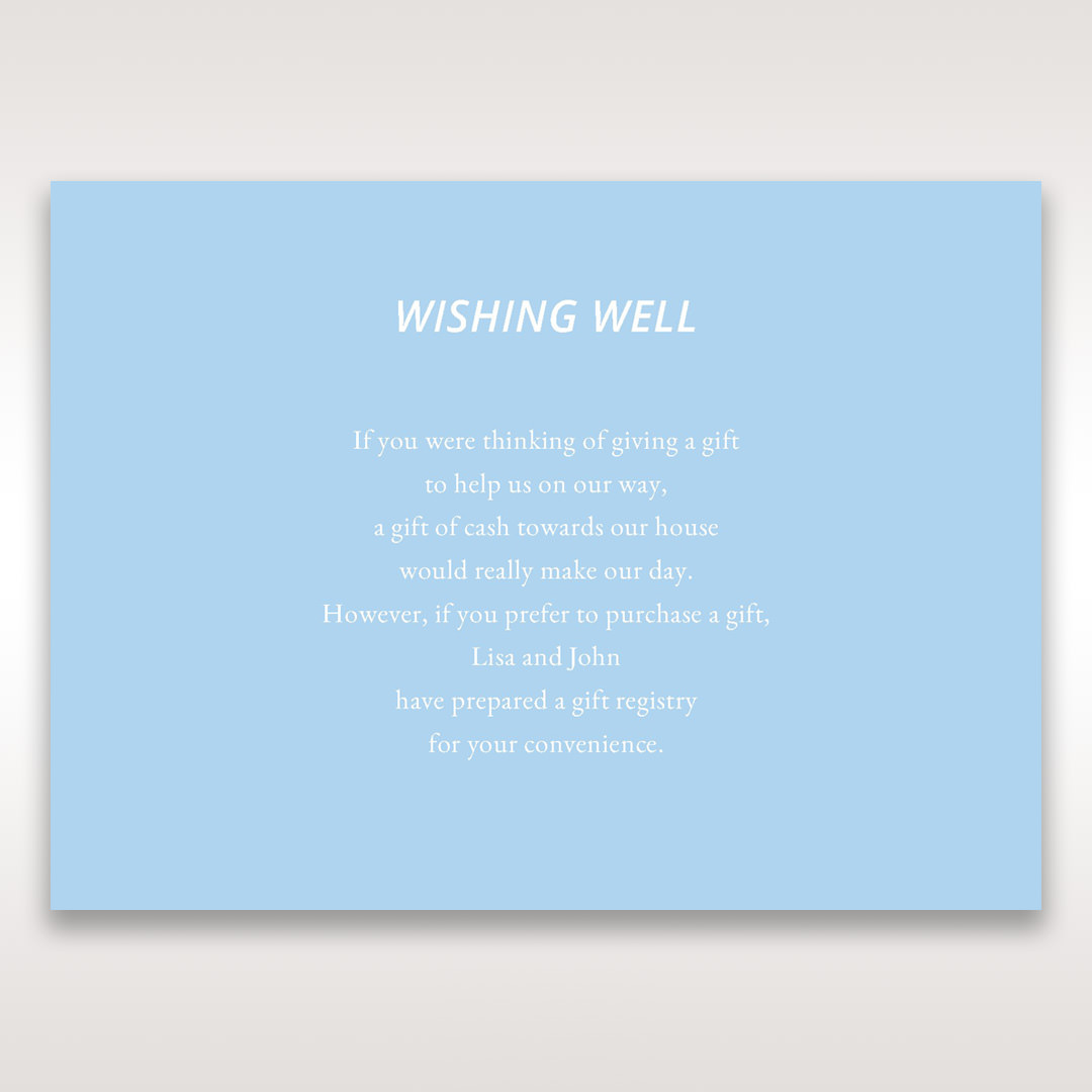 Blue Side by Side - Wishing Well / Gift Registry - Wedding Stationery - 10