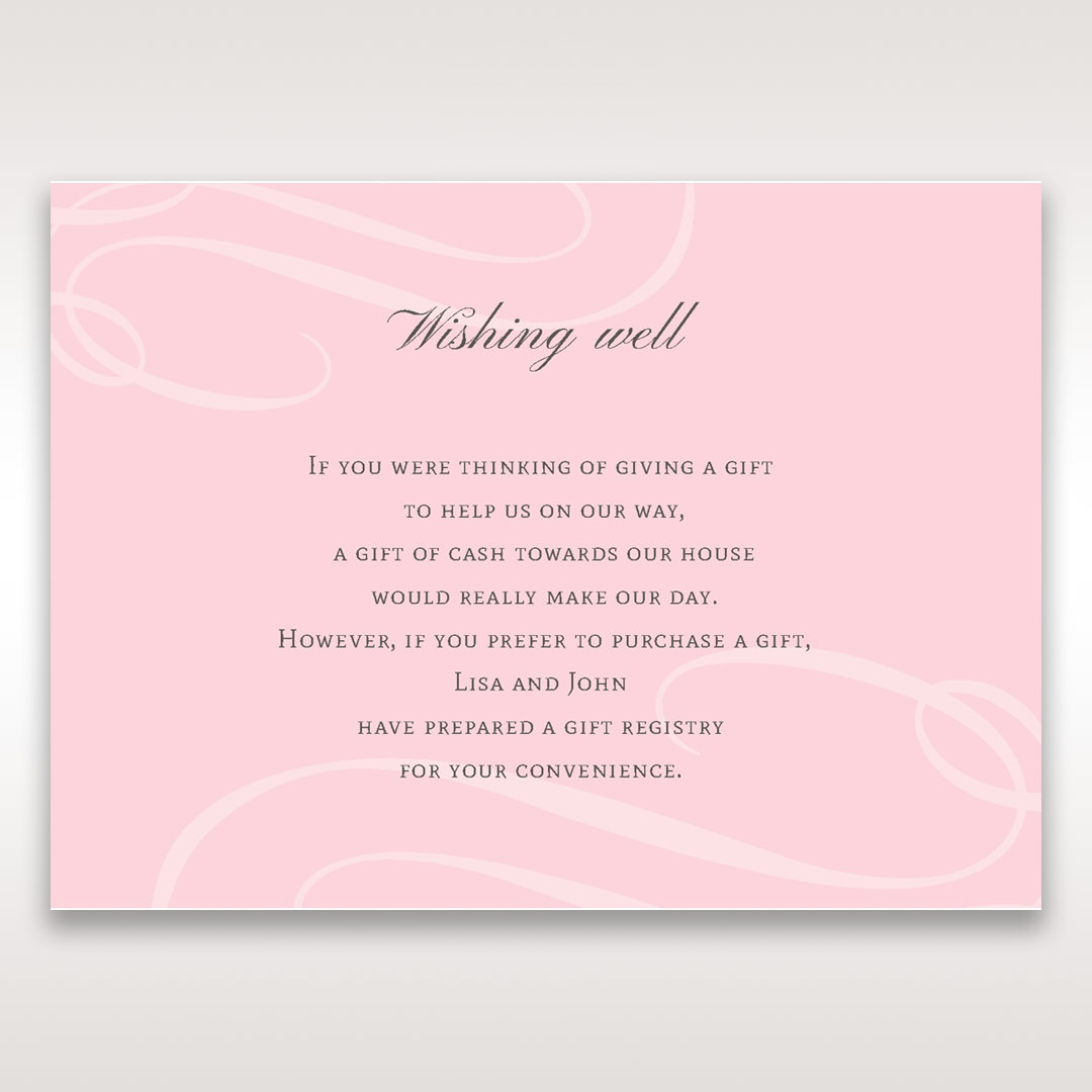 Pink Simply Graceful - Wishing Well / Gift Registry - Wedding Stationery - 42