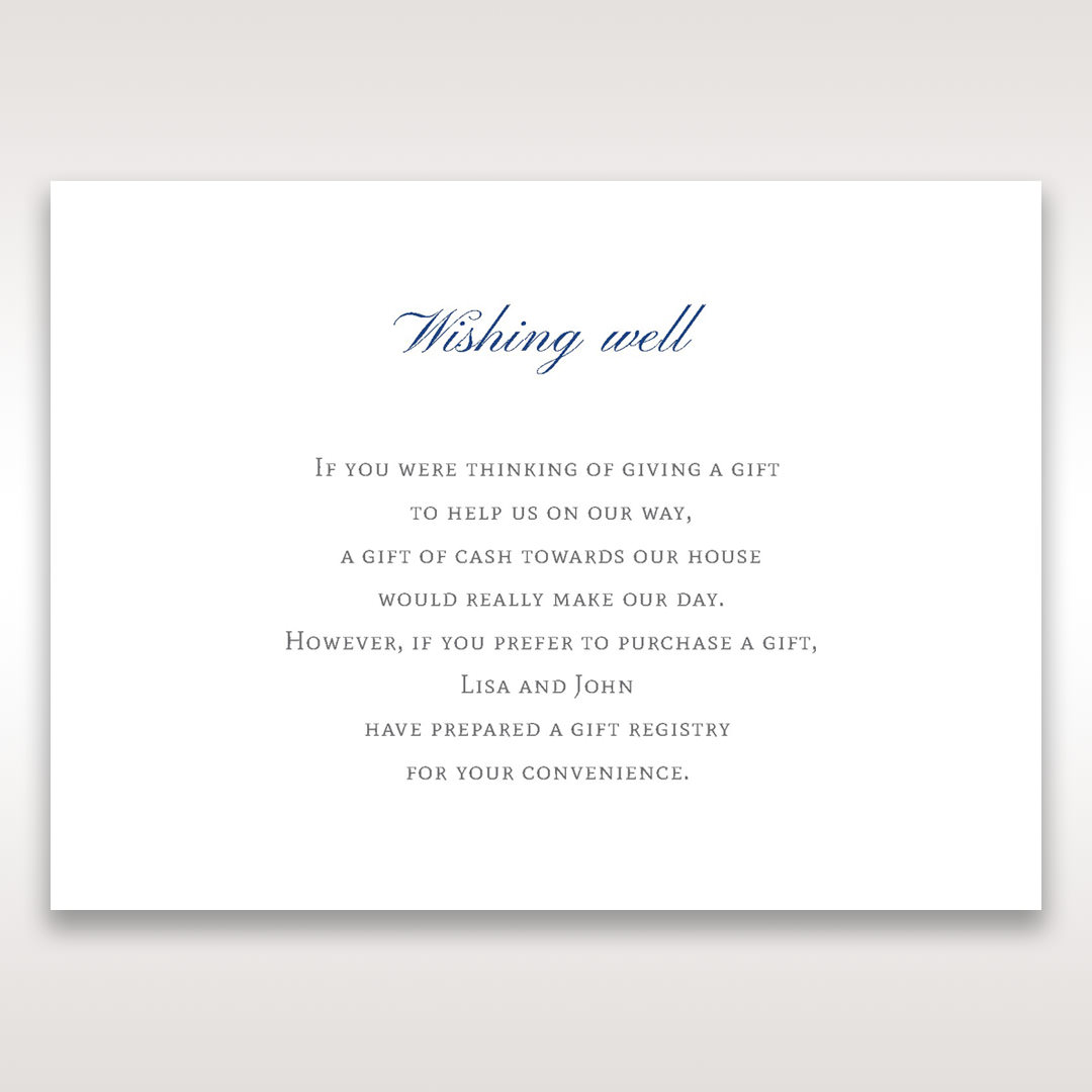 White Something Old and Blue - Wishing Well / Gift Registry - Wedding Stationery - 52