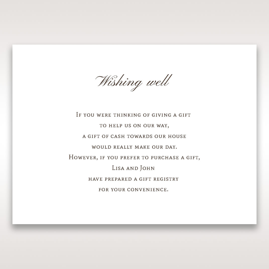 Brown Jeweled Couture in Brown - Wishing Well / Gift Registry - Wedding Stationery - 20