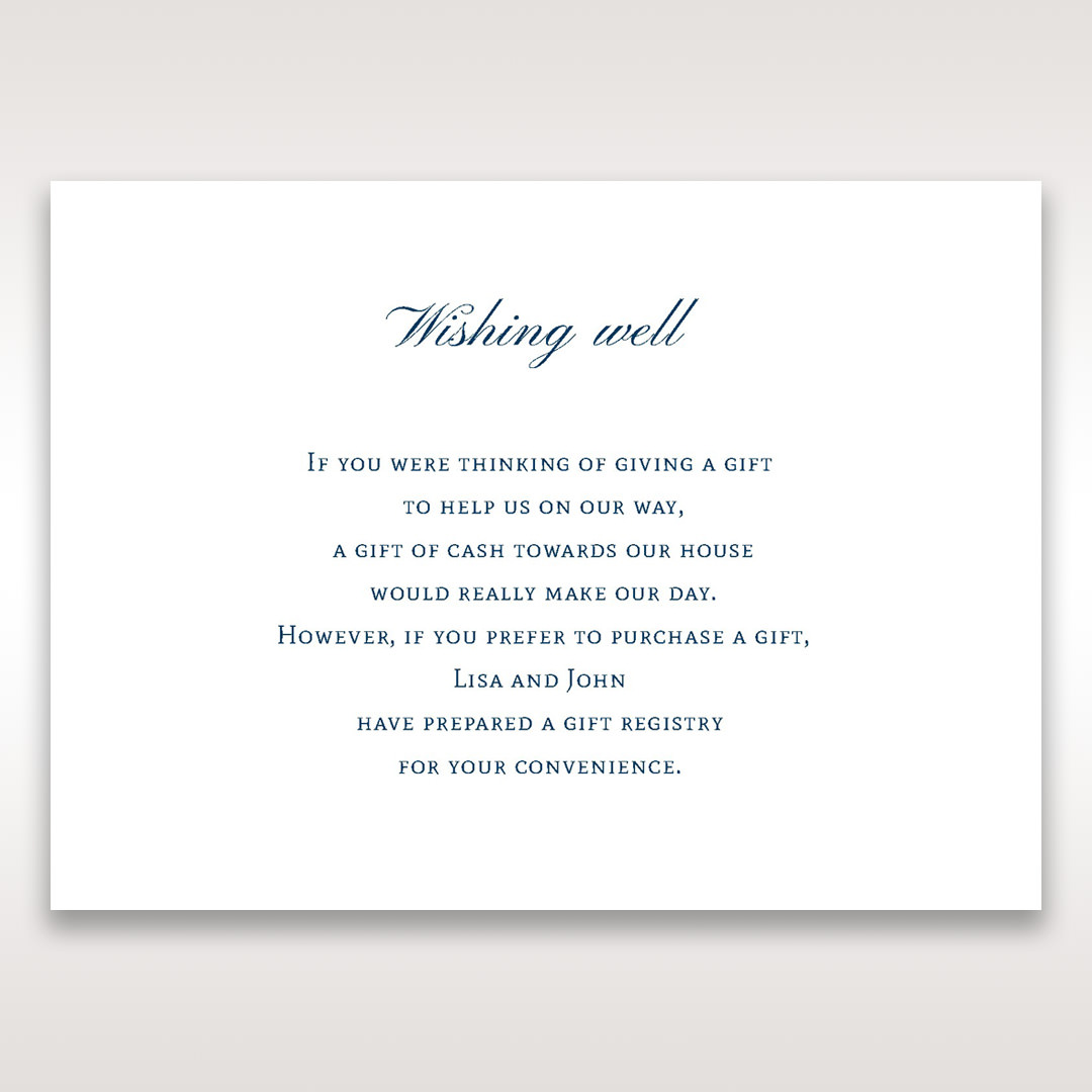 Purple Romantic Elegance, Couture - Wishing Well / Gift Registry - Wedding Stationery - 5