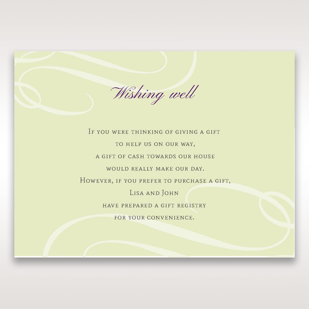Green Butterfly in the Green Meadow - Wishing Well / Gift Registry - Wedding Stationery - 39