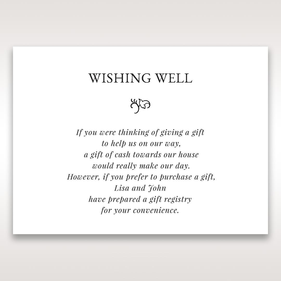 White Romantic Laser Cut - Wishing Well / Gift Registry - Wedding Stationery - 34