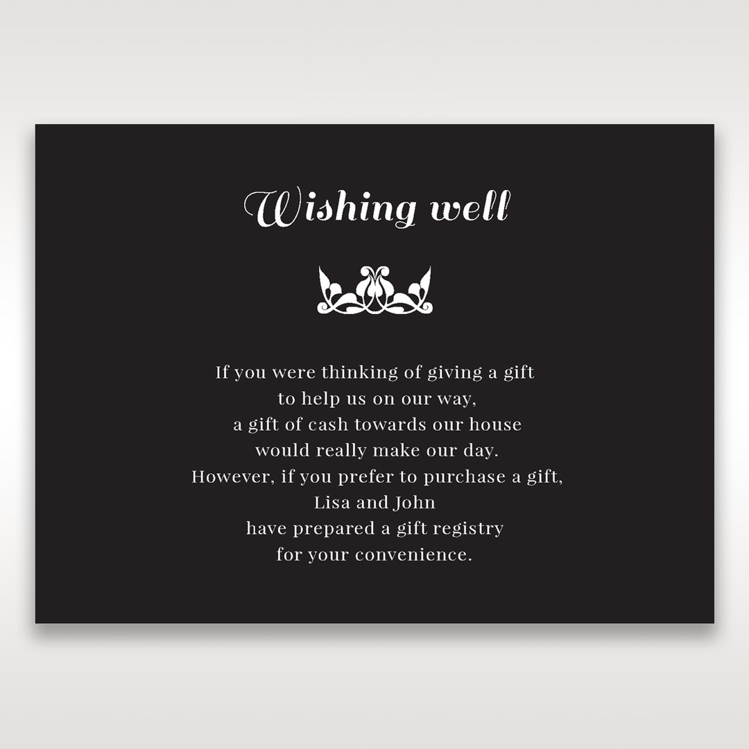 Black Vintage Rose Layered Laser Cut - Wishing Well / Gift Registry - Wedding Stationery - 67