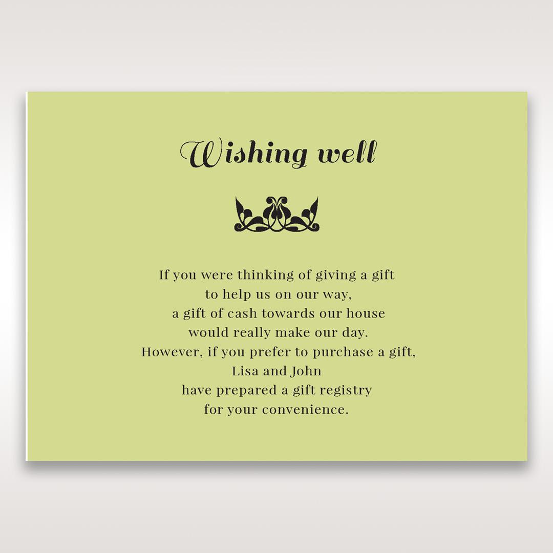 Green Laser Vintage Rose Layered Laser Cut - Wishing Well / Gift Registry - Wedding Stationery - 35