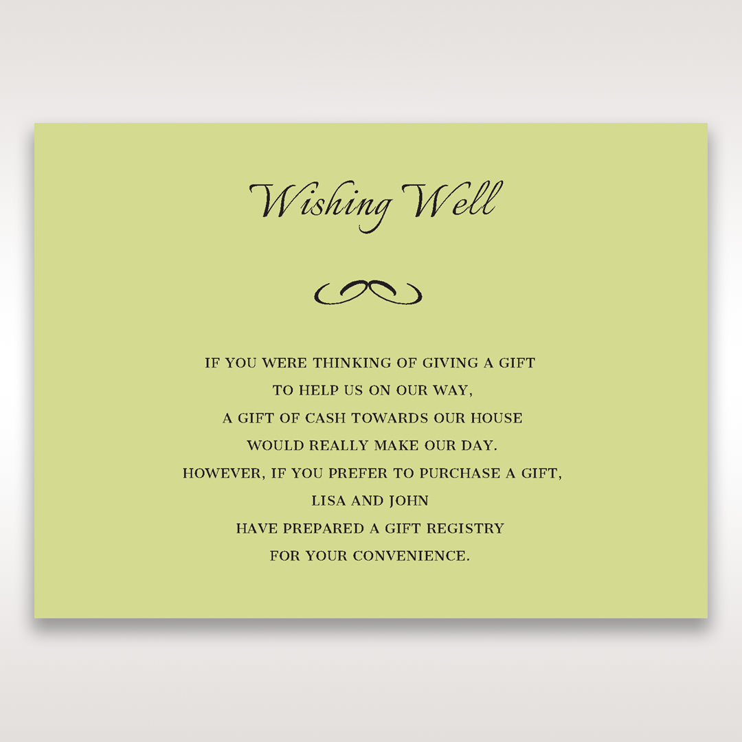 Green Laser Contempo Laser Cut Pocket - Wishing Well / Gift Registry - Wedding Stationery - 85