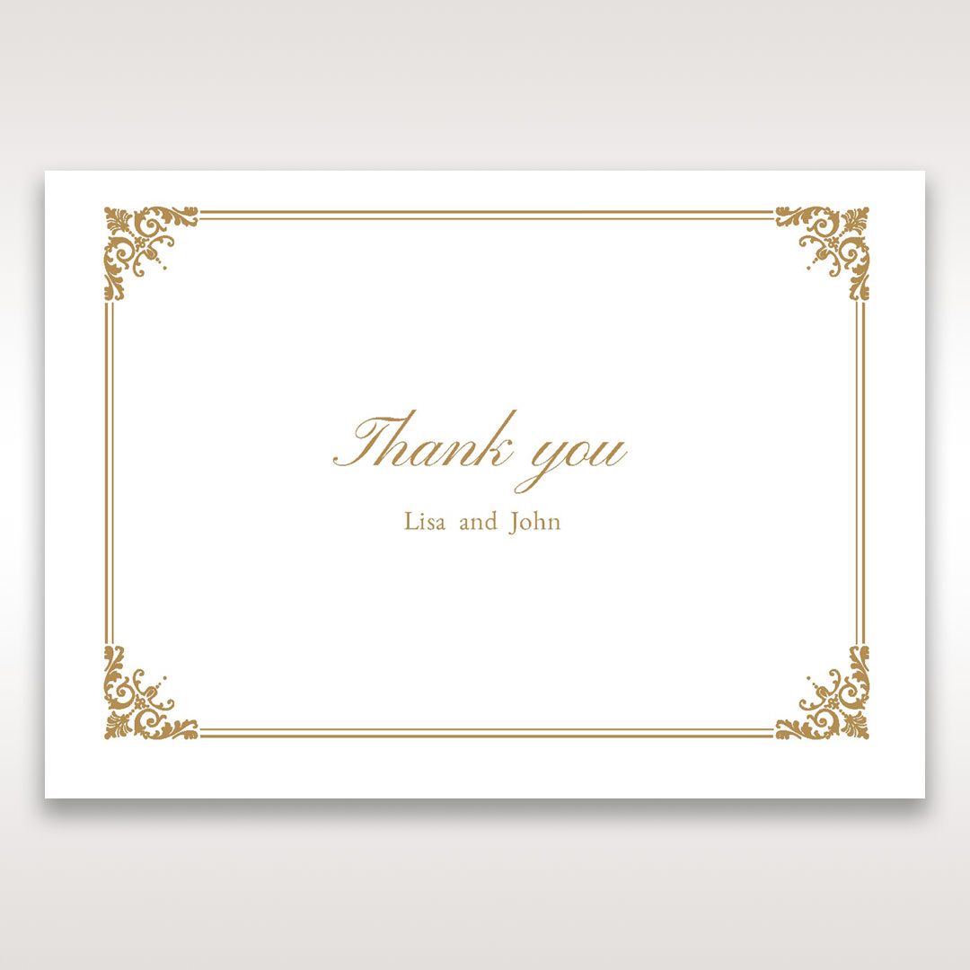 Yellow/Gold Romatic Classic - Thank You Cards - Wedding Stationery - 42