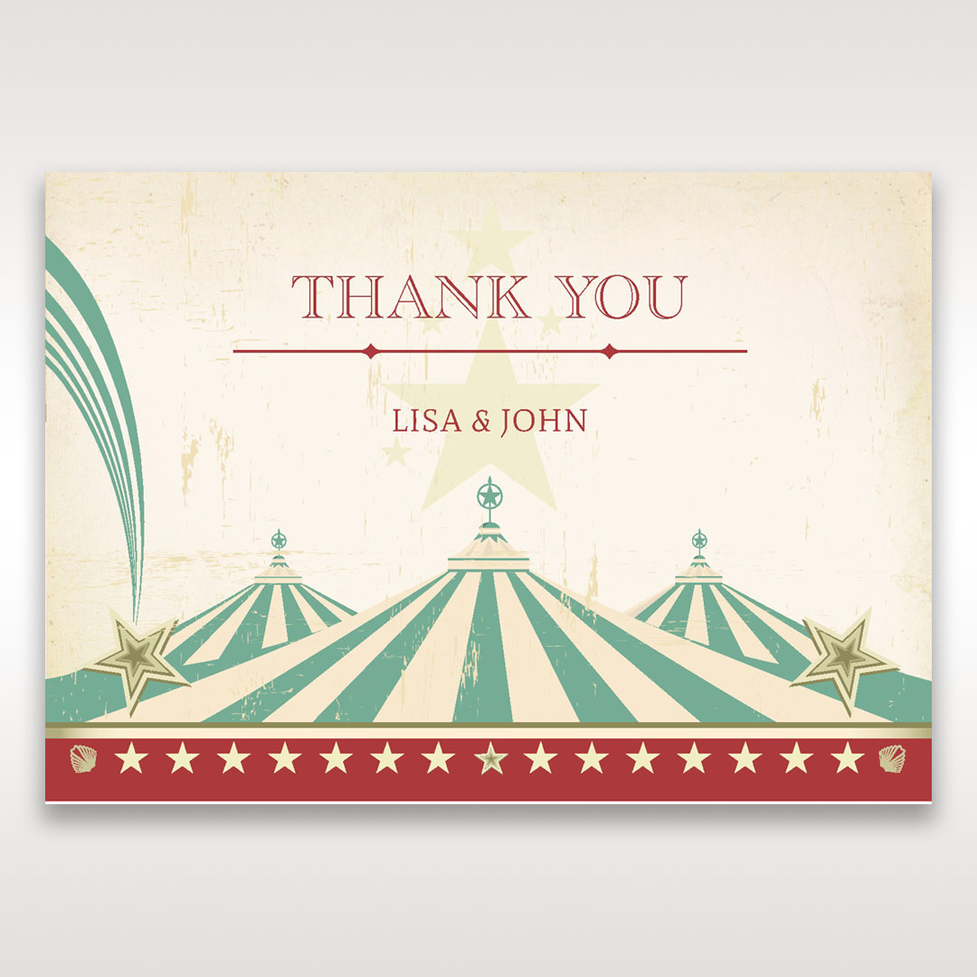 Red Big Top Celebration - Thank You Cards - Wedding Stationery - 36
