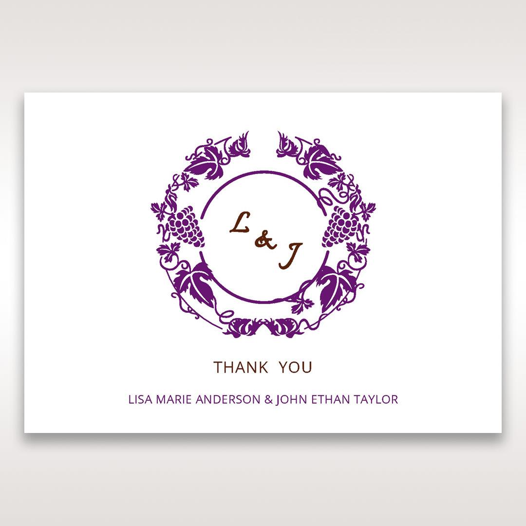 Purple Royal Purple Winery - Thank You Cards - Wedding Stationery - 89